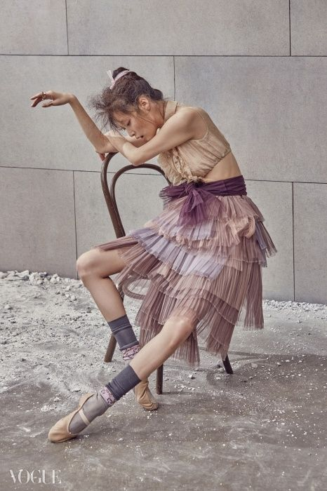 "Kim Sung Hee in ""The Ballet Fairy"" for Vogue Korea February 2015. Photographed by Kim Bo Sung"