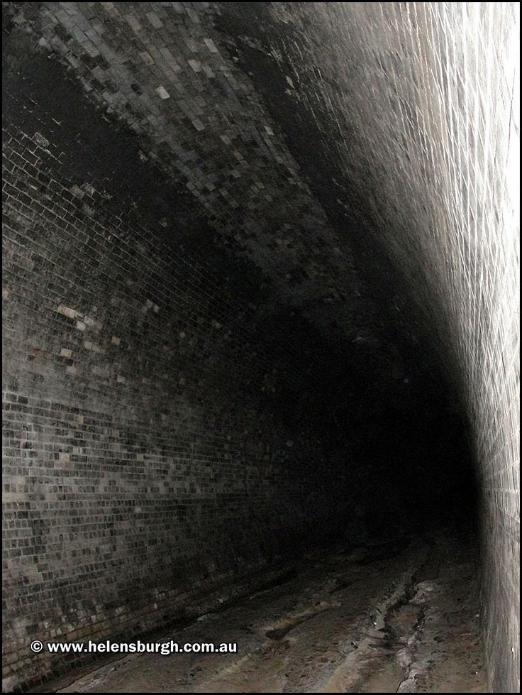 Otford Tunnel photo taken from up along its wall.
