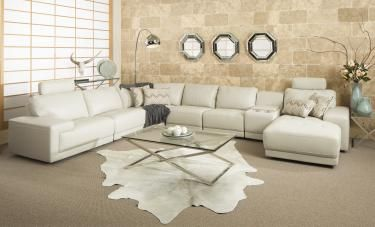 Nebraska Full Leather Modular Lounge