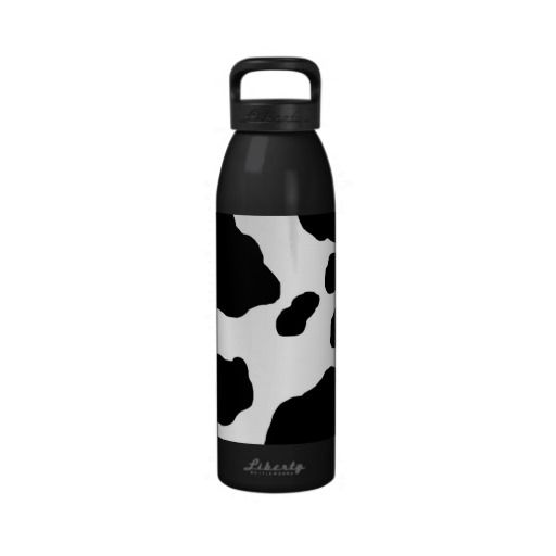 Fun Cow Print Personalized Reusable Water Bottles