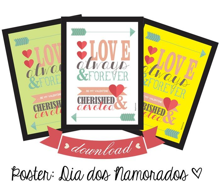 Download de poster para o dia dos namorados | http://www.blogdocasamento.com.br/download-de-poster-para-o-dia-dos-namorados/