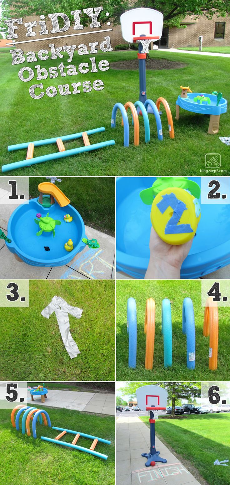 This DIY backyard obstacle course is going to be a family hit for the summer! At the Step2 Blog.