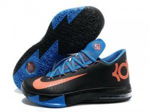 Buy Nike Kevin Durant KD 6 VI Black Blue Orange For Sale New Release from  Reliable Nike Kevin Durant KD 6 VI Black Blue Orange For Sale New Release  ...