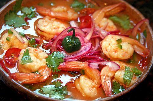 Contacto con lo Divino: Ceviche Ecuatoriano de Camarones Shrimp, Recipies, Meat, Cold, Ceviche Recipe, Salads, Ecuadorian Recipes, Recipes