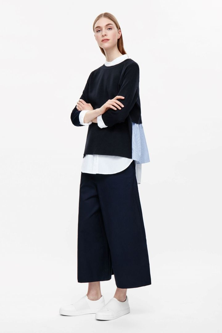 COS image 1 of Top with layered back in Navy