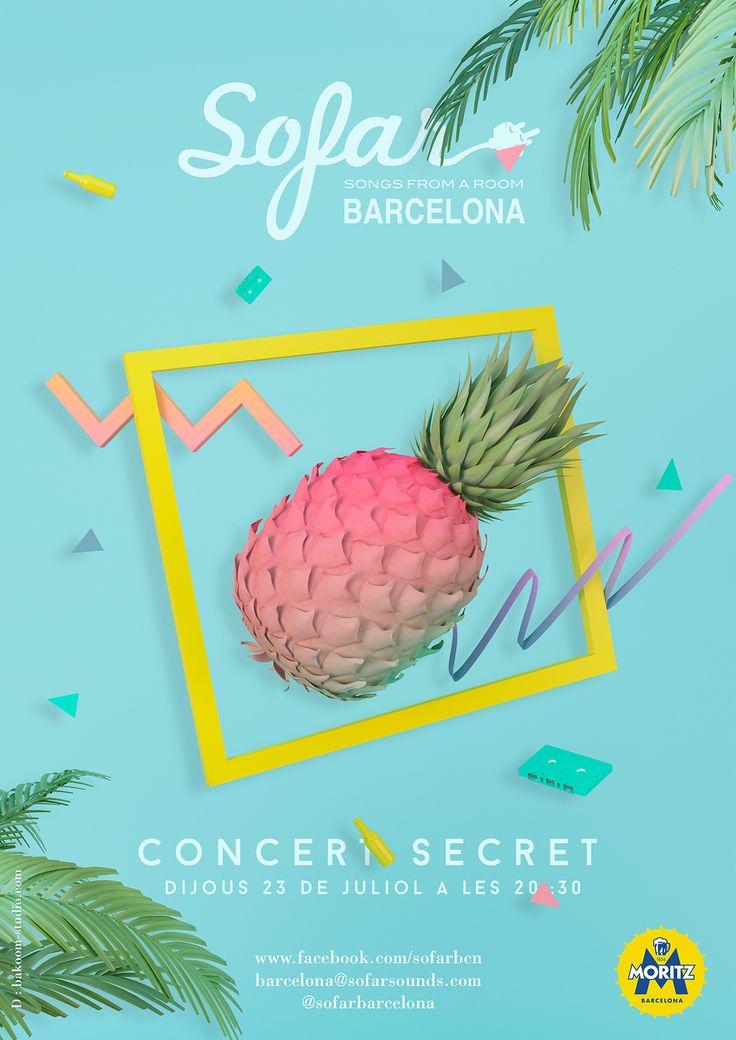Diseño para Sofarsunds Barcelona #poster #90s #design #bakoom #sofar #sofarsounds