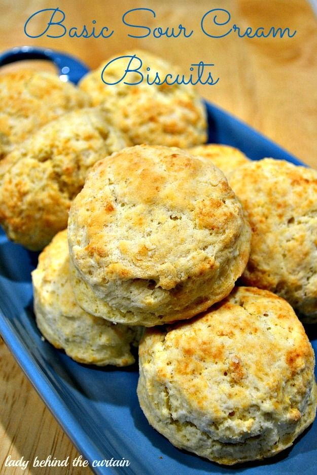 Basic Sour Cream Biscuits.