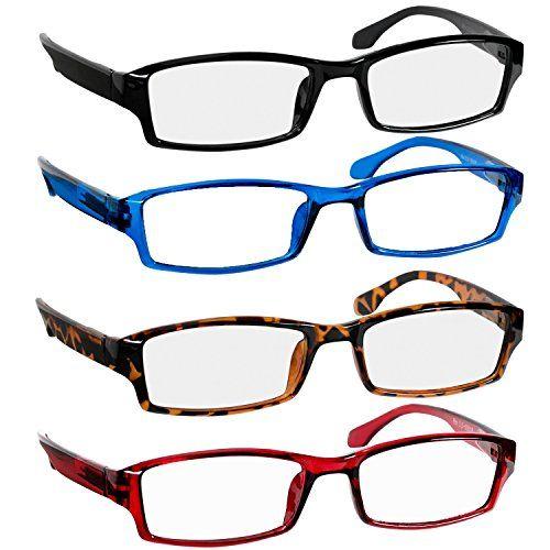 047531ad240 Reading Glasses 1.5 Black Tortoise Red Blue Readers for Men   Women - Spring  Arms