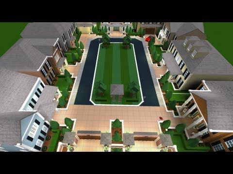 Roblox Bloxburg Neighborhood Candyman Build Youtube House Blueprints The