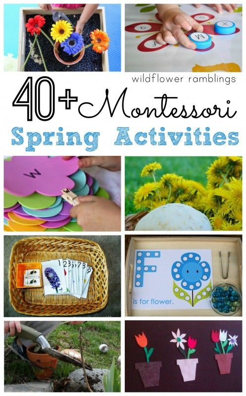 Montessori Spring Activities - Wildflower Ramblings