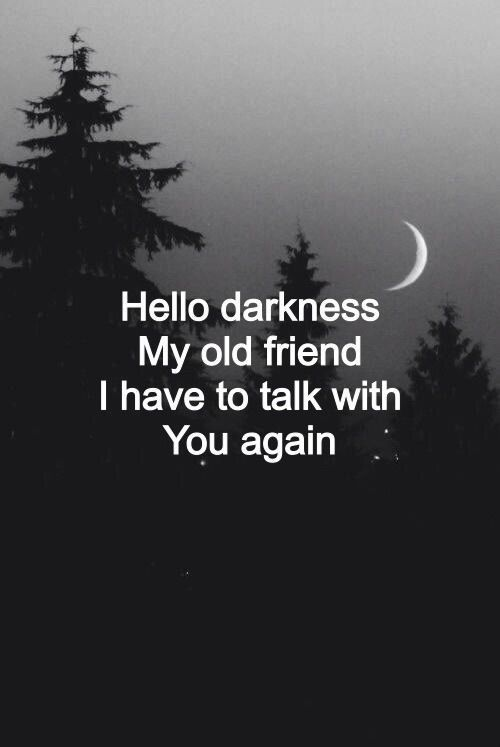 I love talking to you when the worlds dark & the s…