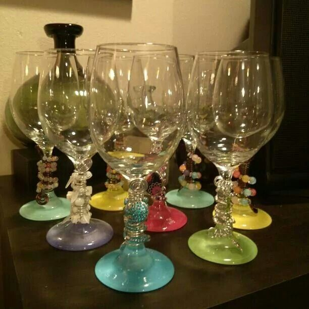 Wine Glasses ~ Beads & Wire