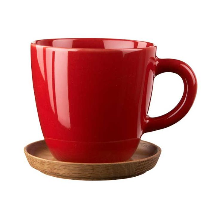 Höganäs coffee mugs in glossy red