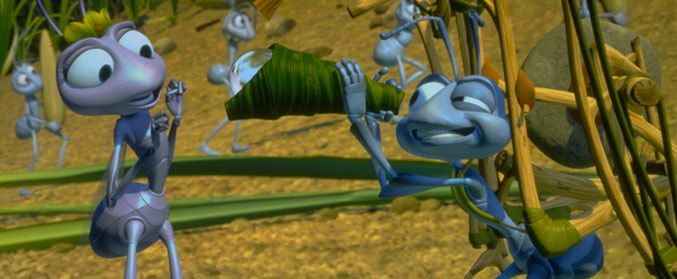Pixar film, Flik and Atta from A Bug's Life. What your fav Pixar films say about you