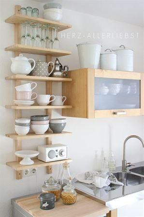 26 idées d'étagères ouvertes de cuisine