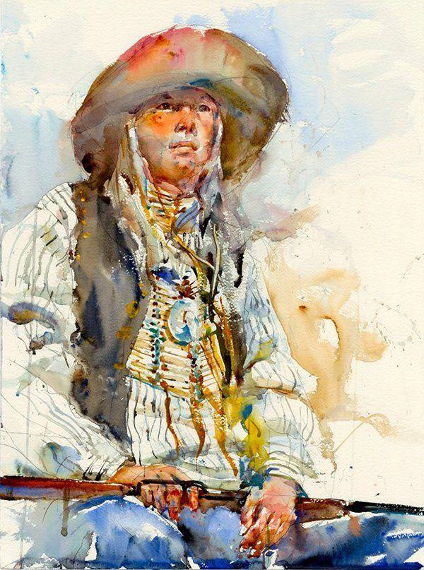 Watercolor Figurative Paintings by Charles Reid  <3 <3