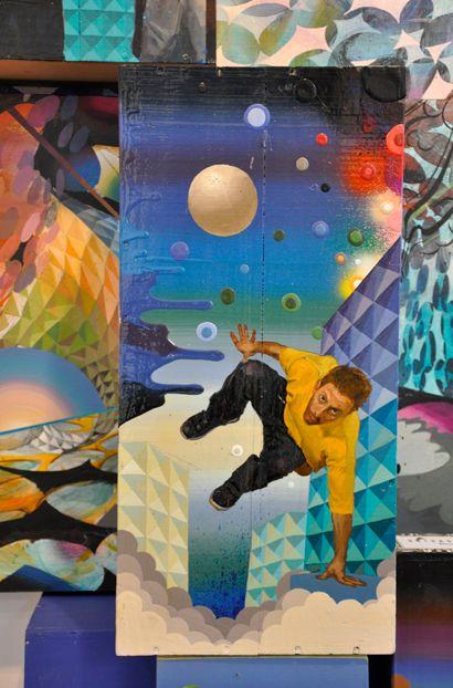 David Chong Lee blue installation