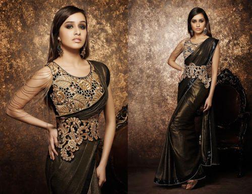 Indian-Ethnic-Traditional-Party-Wear-Designer-Saree-Wedding-Bollywood-Sari-Dress