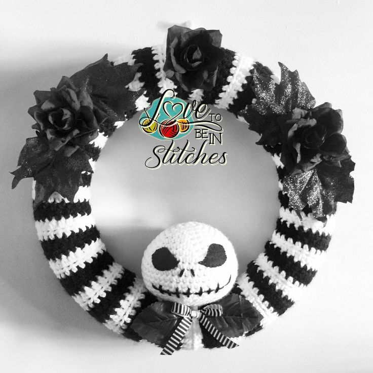 Jack skellington wreath nightmare before before - Jack skellington decorations halloween ...