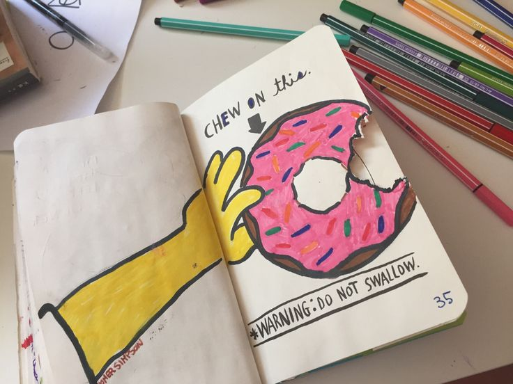 Wreck This Journal donut