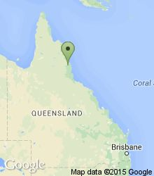 Location of Crater Lakes National Park within Queensland