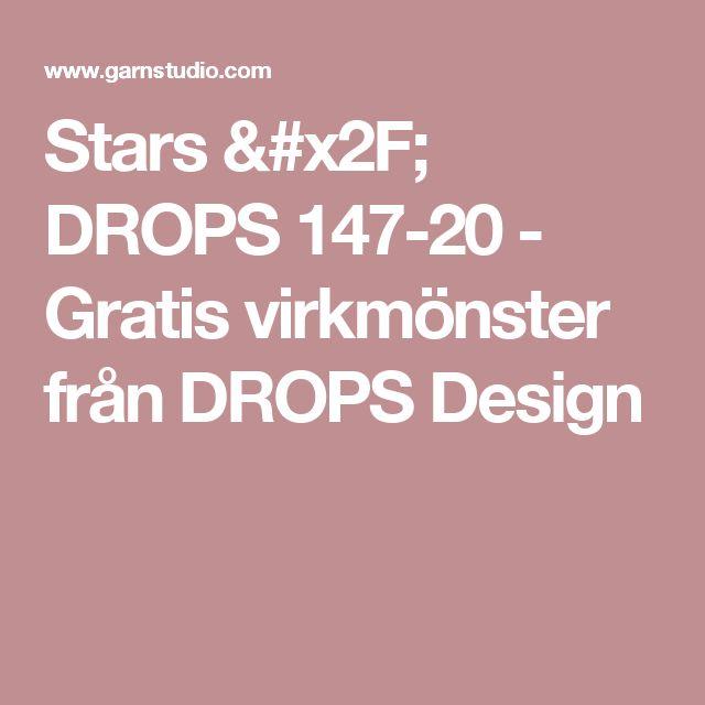 Stars / DROPS 147-20 - Gratis virkmönster från DROPS Design