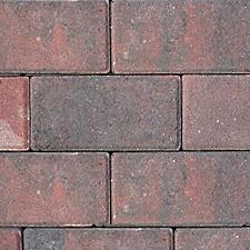 Bestrating - Betonklinkers Rood / Zwart -