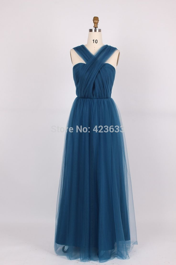 ==> [Free Shipping] Buy Best Real Picture Ink Blue Long Evening Dress A-line Vestido de Festa Azul Tulle Floor Length Plus Size Prom Gown SED8024 Online with LOWEST Price | 32324938530