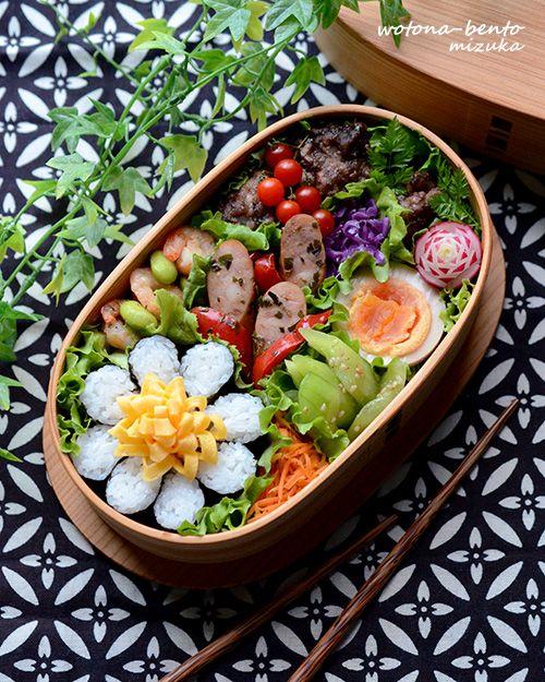 日本人のごはん/お弁当 Japanese meals/Bento 8/26 海苔巻かずの花金弁当 ~Locari、macaroni、NAVERまとめに紹介されました!