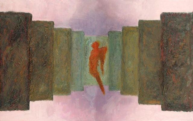 """Suicide angels"", oil paintng, 160 x 100 cm, by Altea Leszczynska"
