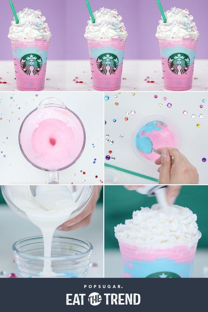 Make your own Starbucks Unicorn Frappuccino!