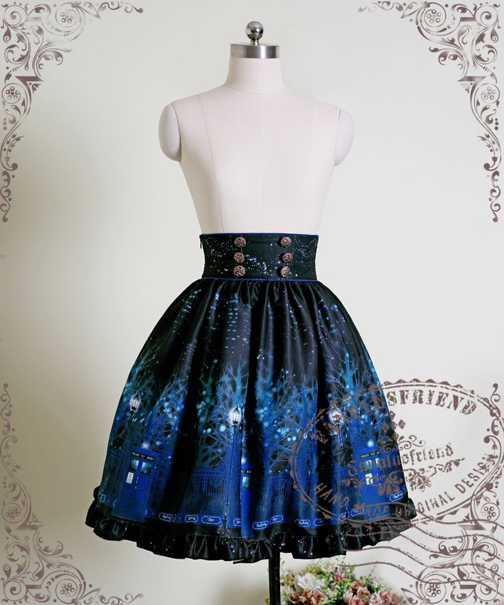 fanplusfriend - Time Lord, Cyber Gothic High Waist Skirt*2colors Instant Shipping, €71.89 (http://www.fanplusfriend.com/time-lord-cyber-gothic-high-waist-skirt-2colors-instant-shipping/)