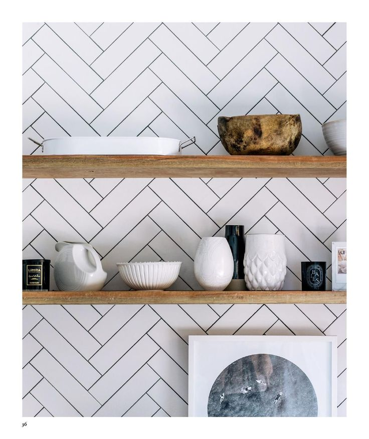 ISSUU - Adore Aug Sep 2015 by Adore Home magazine. Herringbone splashback kitchen tiling plus open shelves