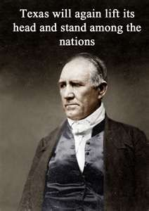Sam Houston. is a founding father who gave houston its name and the school SHU