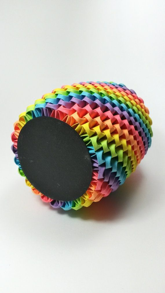Portalápices de Origami 3D arco iris pluma por WhimsicalFolds