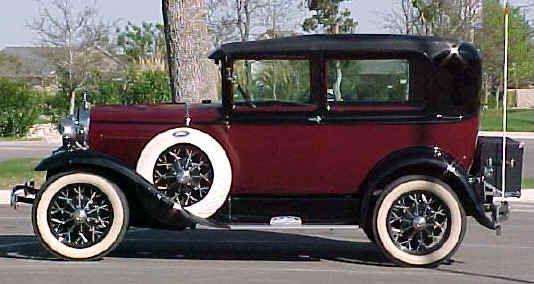 1930 Ford Model A Tudor Sedan.