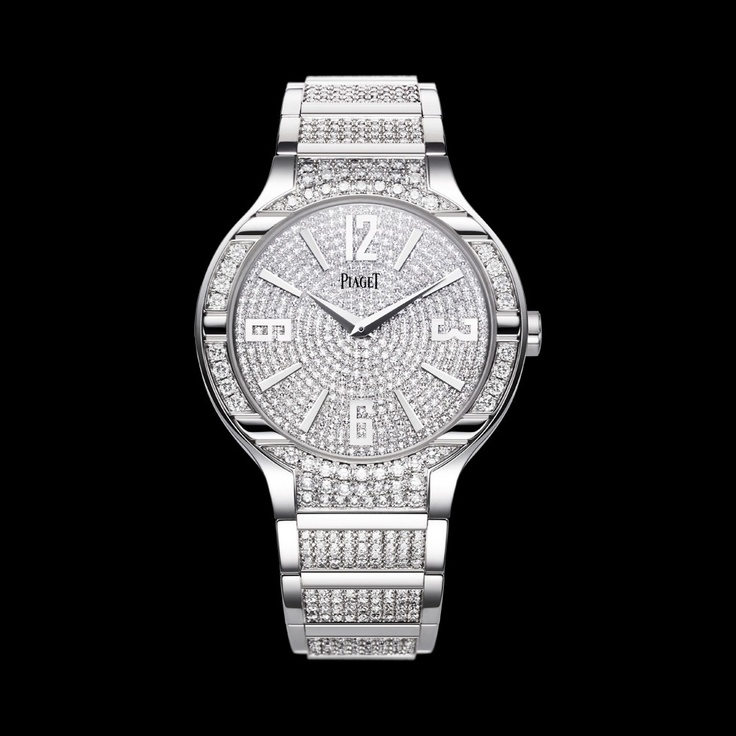 Piaget Polo Watch G0A36226, Mechanical, ultra-thin, white gold with diamonds.