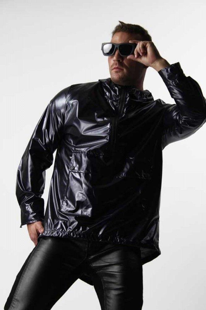 Menswear Online Shopping Black Raincoat Fashion Different
