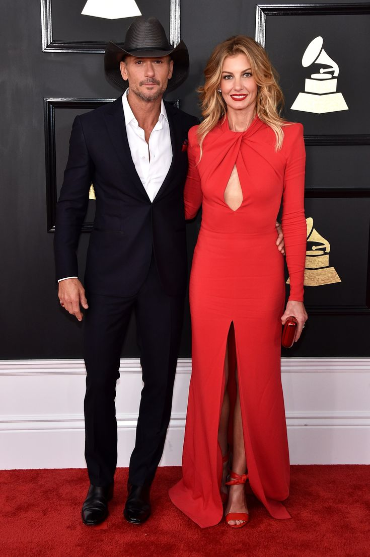 2017 Grammy Awards-Tim McGraw and Faith Hill in Zuhair Murad. Faith looks great