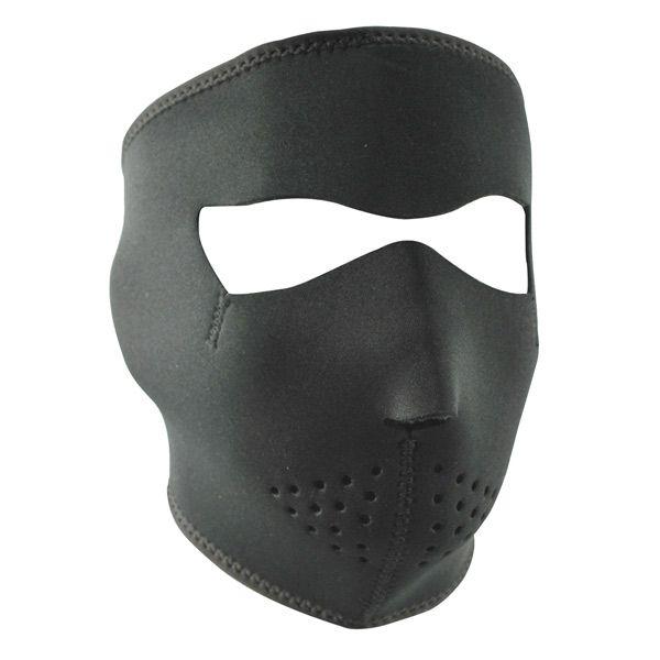 Black Neoprene Face Mask with Microfleece Lining