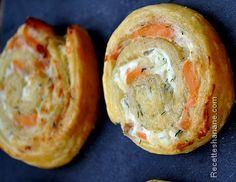 Encore une recette express pour un apéro dinatoire par exemple (ou pour garnir la table du ftour du ramadan), des escargots feuilletés à la ricotta et à la truite fumée, c'est simple, c'est frais et c'est délicieux! Pour une douzaine de feuilletés il...