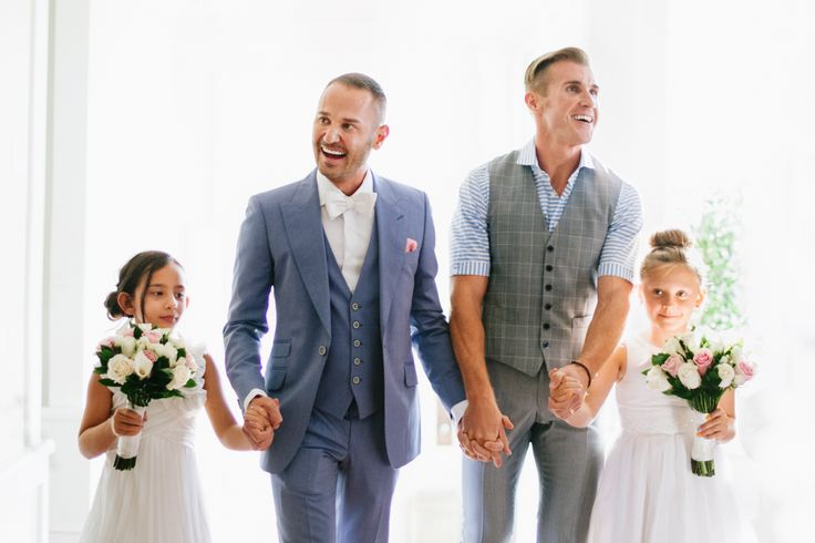 Love this grooms and their sweet flower girls! #lovewins photo by hannah arista