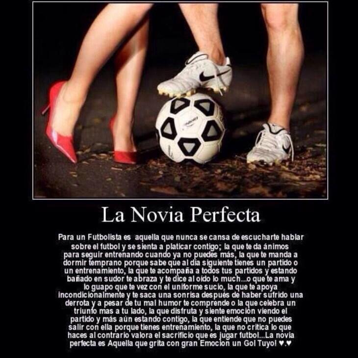 Para mi futuro novio futbolista. :)