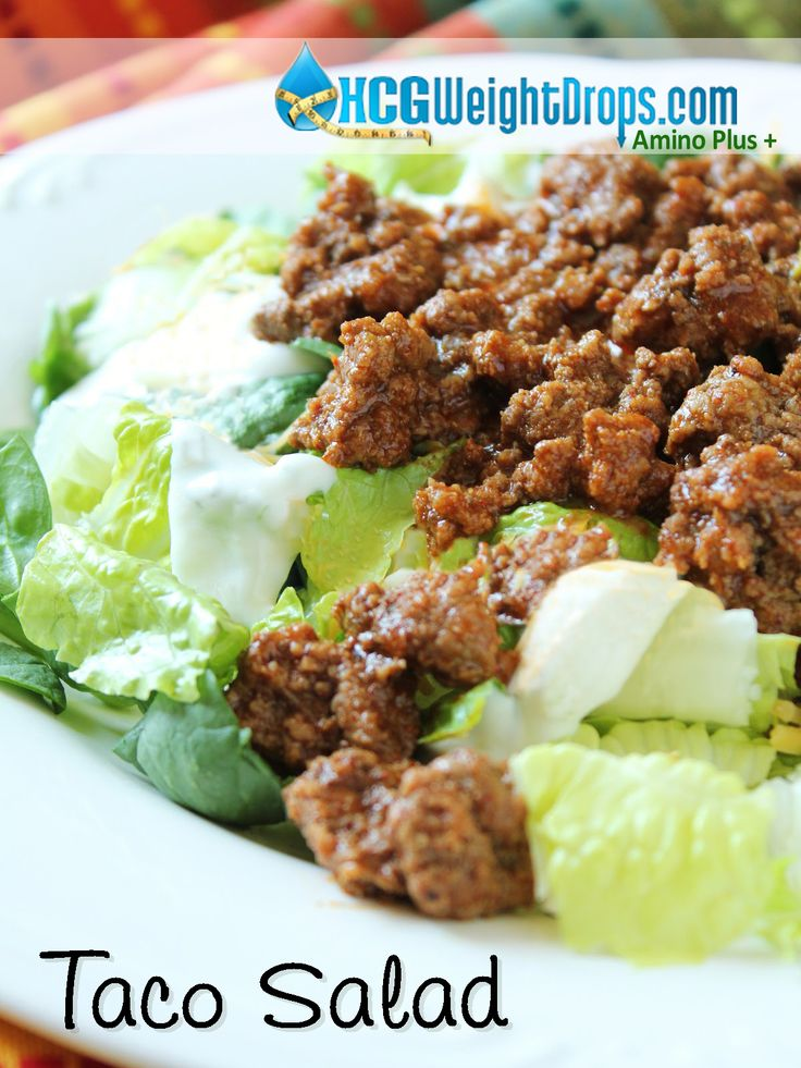 172 calorie Taco Salad! This is sooo delicious and easy, must make!