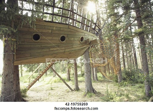Pirate tree house plans