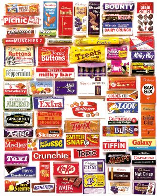 Bring back those happy childhood memories with this fabulous 10x8 print featuring over 50 favourite bars including; Aztec, Picnic, Treets, Nut Crisp, Bliss, Ginger Nut, Aero and Crackermilk among many others from manufacturers including Cadbury's, Nestle's, Fry's, Mackintoshe's, Terry's and Macdo...