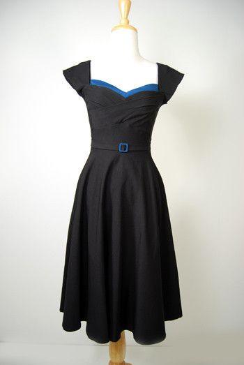 Stop Staring Clothing Retro Dress Noir