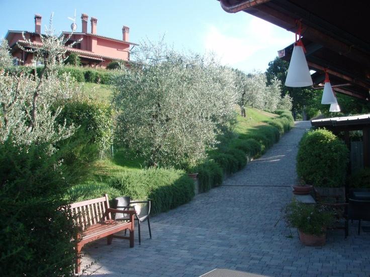 La Rocca Orvieto's pathway  leading to the restaurant