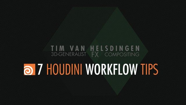 Hip file for cache presets:  https://drive.google.com/file/d/0B8bT5KFJbL_iNFBIemsyS25NaWc/view?usp=sharing    Hey guys,  So no fancy effects this time around, but 7 tips to help speed up your Houdini workflow.  Hope you enjoy, and let me know if you have any questions.    00:00:36:00 - Tip 1: splitting & linking views  00:02:41:00 - Tip 2: Custom environment variables  00:05:25:00 - Tip 3: Export Presets  00:10:13:00 - Tip 4: OpenGL flipbooks  00:16:36:00 - Tip 5: Focus object  00:20:55:00…