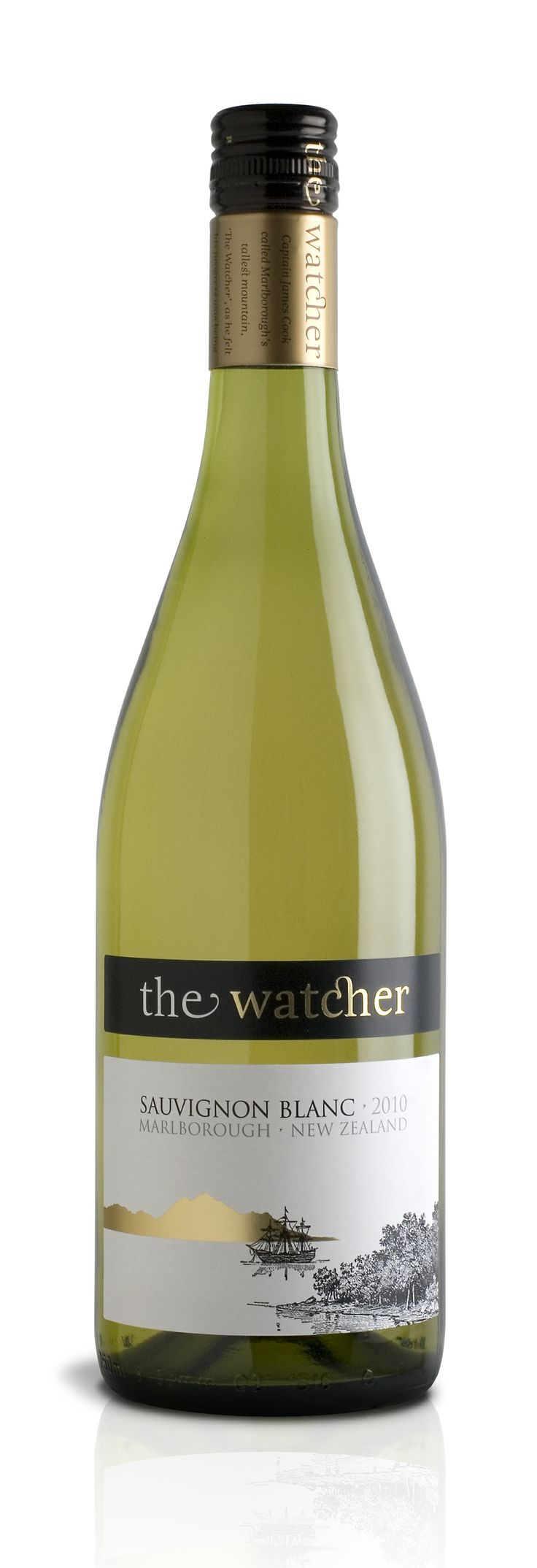The Watcher – New Zealand Sauvignon Blanc with a story – Harpers Wine & Spirit Design Awards 2011 White Wine Design of the Year Trophy